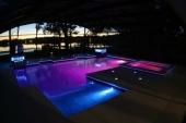 Podvodno svetlo LED,za betonske bazene, BELA, PLAVA, programirano Menjanje Boja