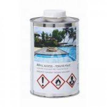 PVC ojačana obloga za bazene, plava,širina protiv klizanja