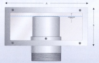 Zidna montaža prilagodljivog prelivnog odvoda DN 75