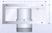 Zidna montaža prilagodljivog prelivnog odvoda DN 110