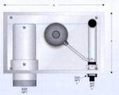 Zidna montaža prilagodljivog prelivnog odvoda / dopunjavanje vode I mehanički prelivni ventil DN 63