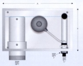 Zidna montaža prilagodljivog prelivnog odvoda / dopunjavanje vode I mehanički prelivni ventil DN 75