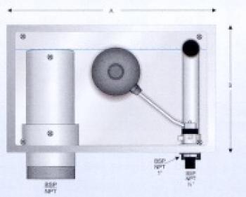 Zidna montaža prilagodljivog prelivnog odvoda /dopunjavanje vode I mehanički prelivni ventil DN 110