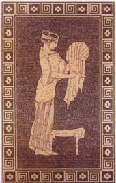 Mural К93, ručno sečena pločica