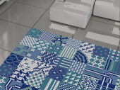 REVIGLASS MODULAR PATCHWORK BLUE