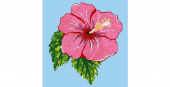 REVIGLASS MURAL HIBISCUS
