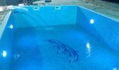 mozaik sa dva delfina